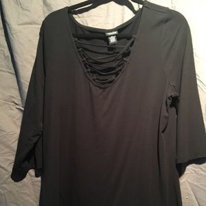 Torrid Foxy Lace Front Tee - Size 3